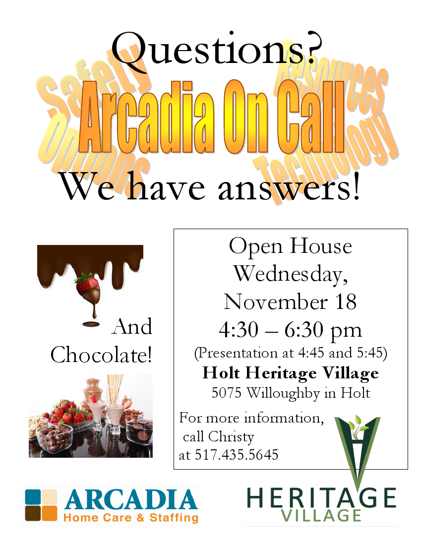 Arcadia on call flyer